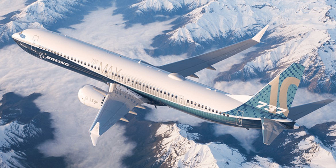 Boeing's new 737 Max 10 airplane.