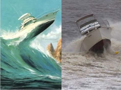 Wave damage insurance - sea vessels