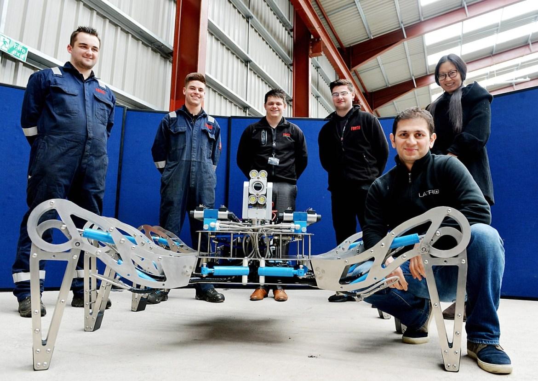 robotics and AI - robotic spider - Forth and UoMrobotics