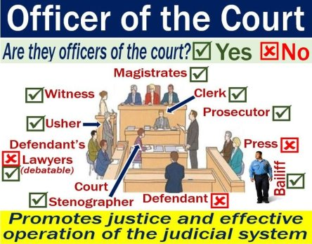 Officer of the court - image with explanation and examples