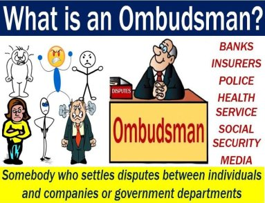 Ombudsman - image with definition and example