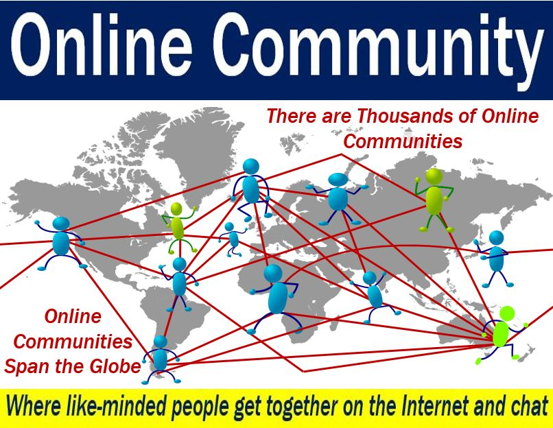 Online community - image explaining meaning