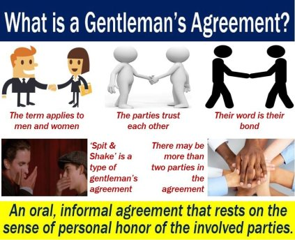 Gentleman's agreement - definition and examples