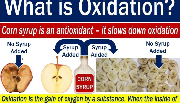 Oxidation - image with explanation and example with fruit