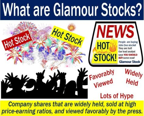 Glamour stocks - definition and illustration