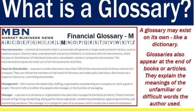 Glossary - meaning and illustration