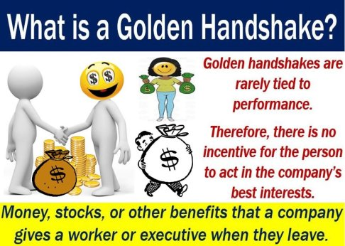 Golden Handshake - definition and illustration