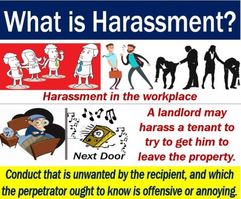 Harassment - definition and some examples