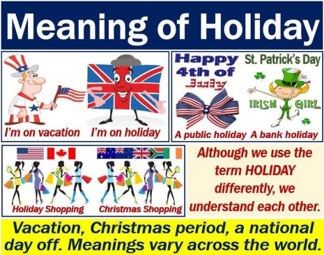 Holiday - definition in different countries