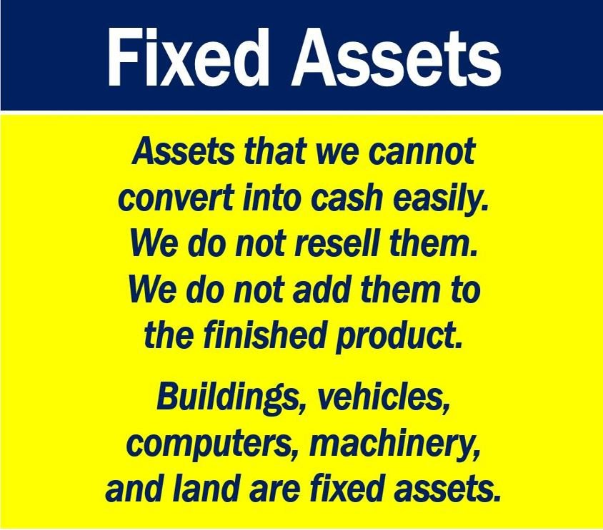Fixed assets definition and examples