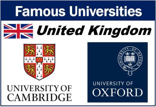 Famous universities United Kingdom