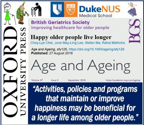 Happy older people live longer