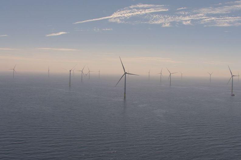 Walney Extension in the Irish Sea - giant wind farm