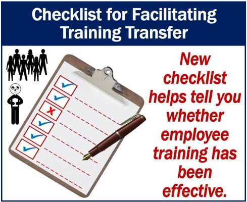 Checklist for assessing effectiveness of training programs