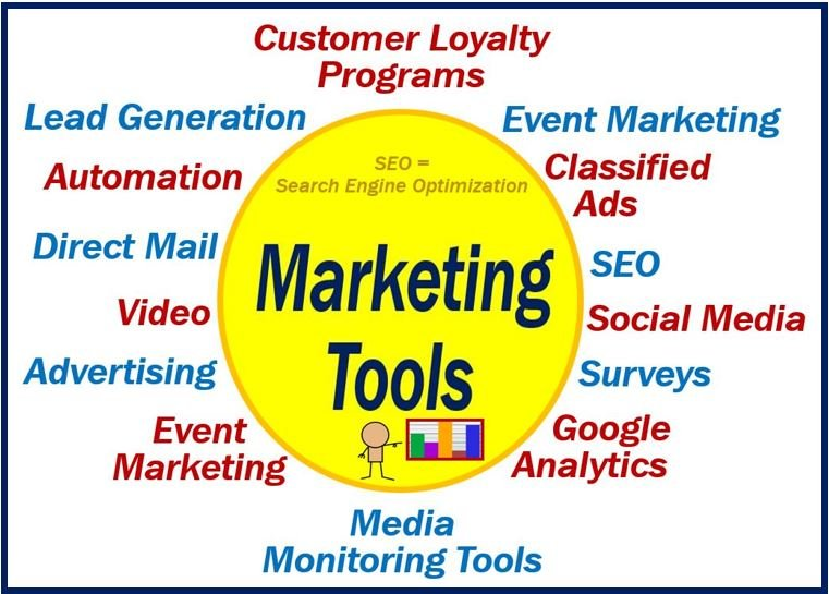 What are marketing tools? Definition and examples