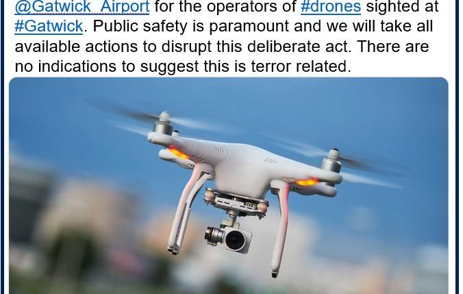 Gatwick airport drone – Sussex Police
