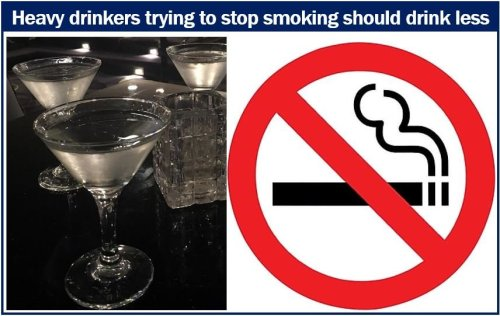 Heavy drinkers trying to stop smoking