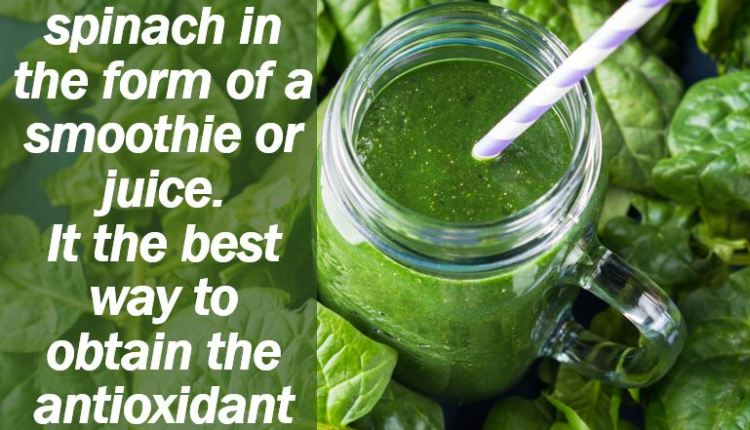 Lutein in spinach