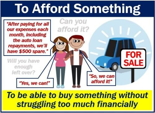 To afford - definition and example
