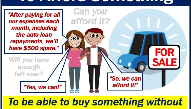 To afford – definition and example