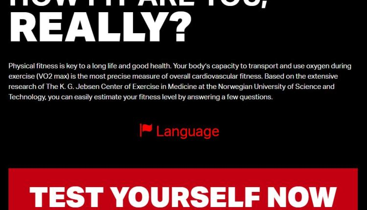 Fitness calculator tells you how fit you are