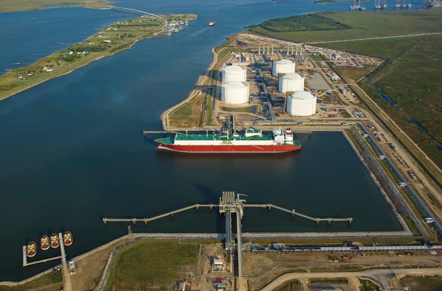 The Golden Pass LNG Terminal in Sabine Pass, Texas