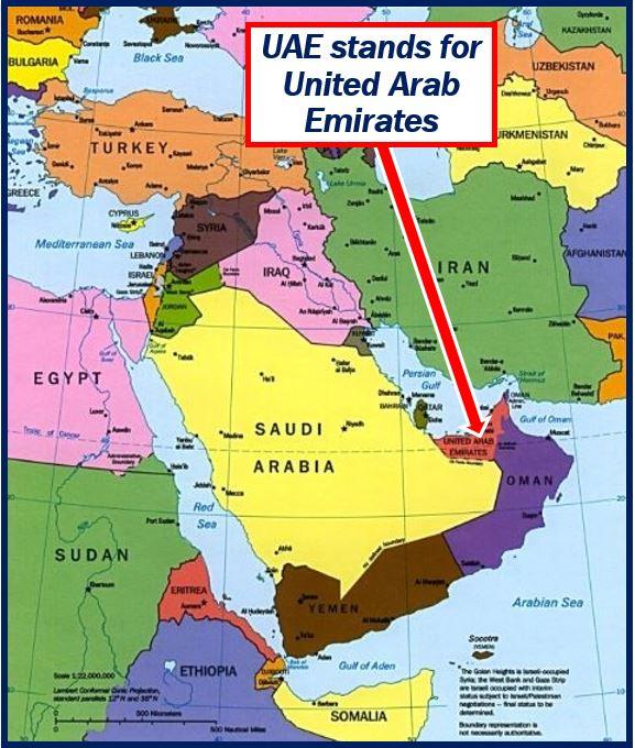 UAE means United Arab Emirates