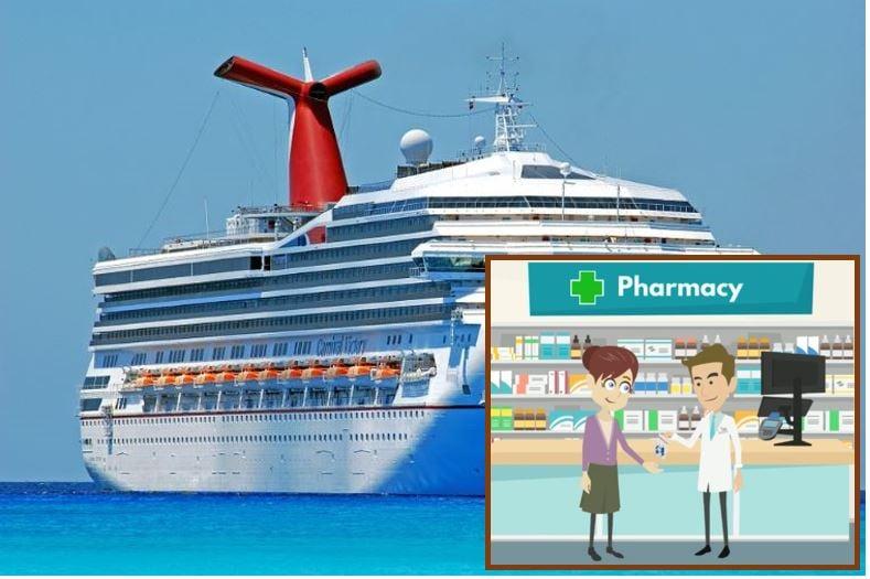 Captive market pharmacy on cruise ship