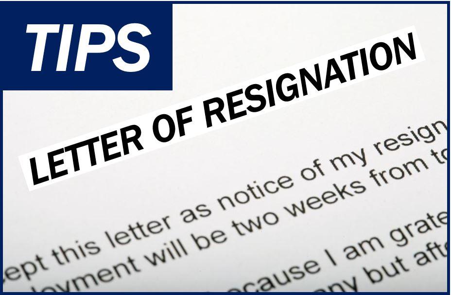 Letter of resignation image 87387847875874878738