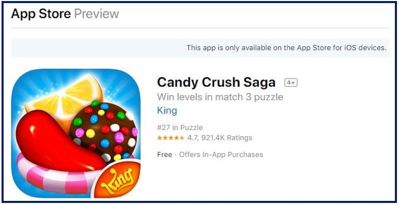 iPhone games candy crush 344
