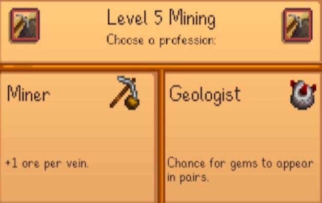 Stardew valley miner or geologist