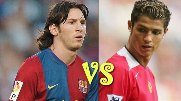 Ronaldo VS Messi Young