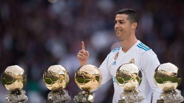 Cristiano Ronaldo Roger Federer Golden Ball