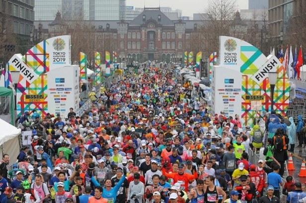 Tokyo marathon 2019 Dentsu