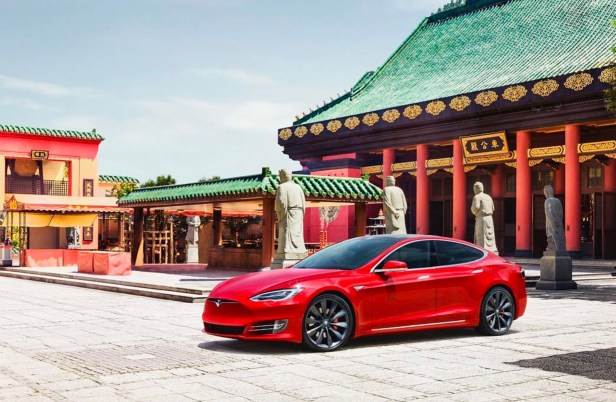 tesla china EVจีน