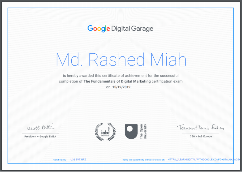 Google Marketer Rashed