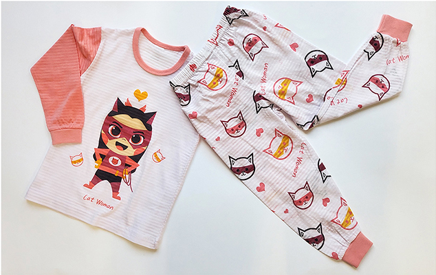 Olomimi cat woman kid pyjamas set product showing