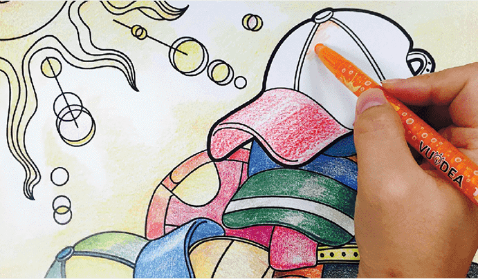 Colorpopup colouring book playing house 2