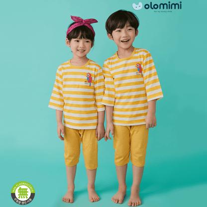 Olomimi Yellow Stripe Kid Pyjamas Set