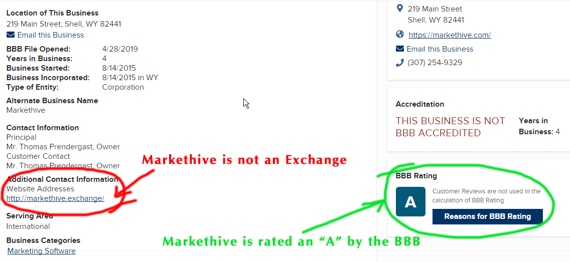 Markethive in the RipOff Report 3