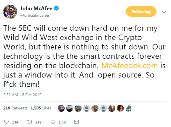 Defiant John McAfee - Disruption For The Sake Of Evolution 8