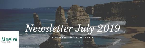 Aimviva Travel Club Newsletter July 2019 Image