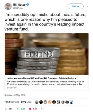 Bill Gate's Tweet