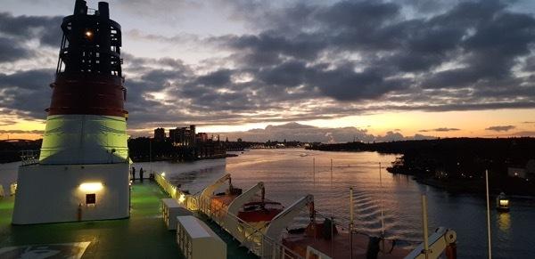 View of Stockholm just taken during departure onboard mv Viking Mariella