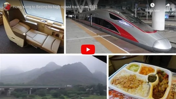 Hong Kong to Beijing by high-speed train