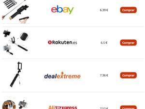 Diseño web comparador de precios