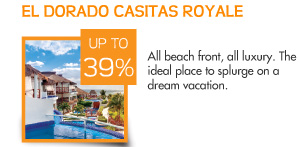 Save up to 39% at El Dorado Casitas Royale – All beach front, all luxury – the ideal place to splurge on a dream vacation