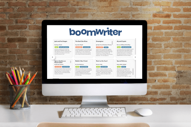boomwriter software on a screen
