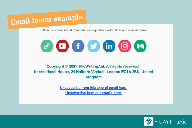 example email footer