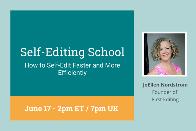 webinar cover: how to self-edit faster and more efficiently